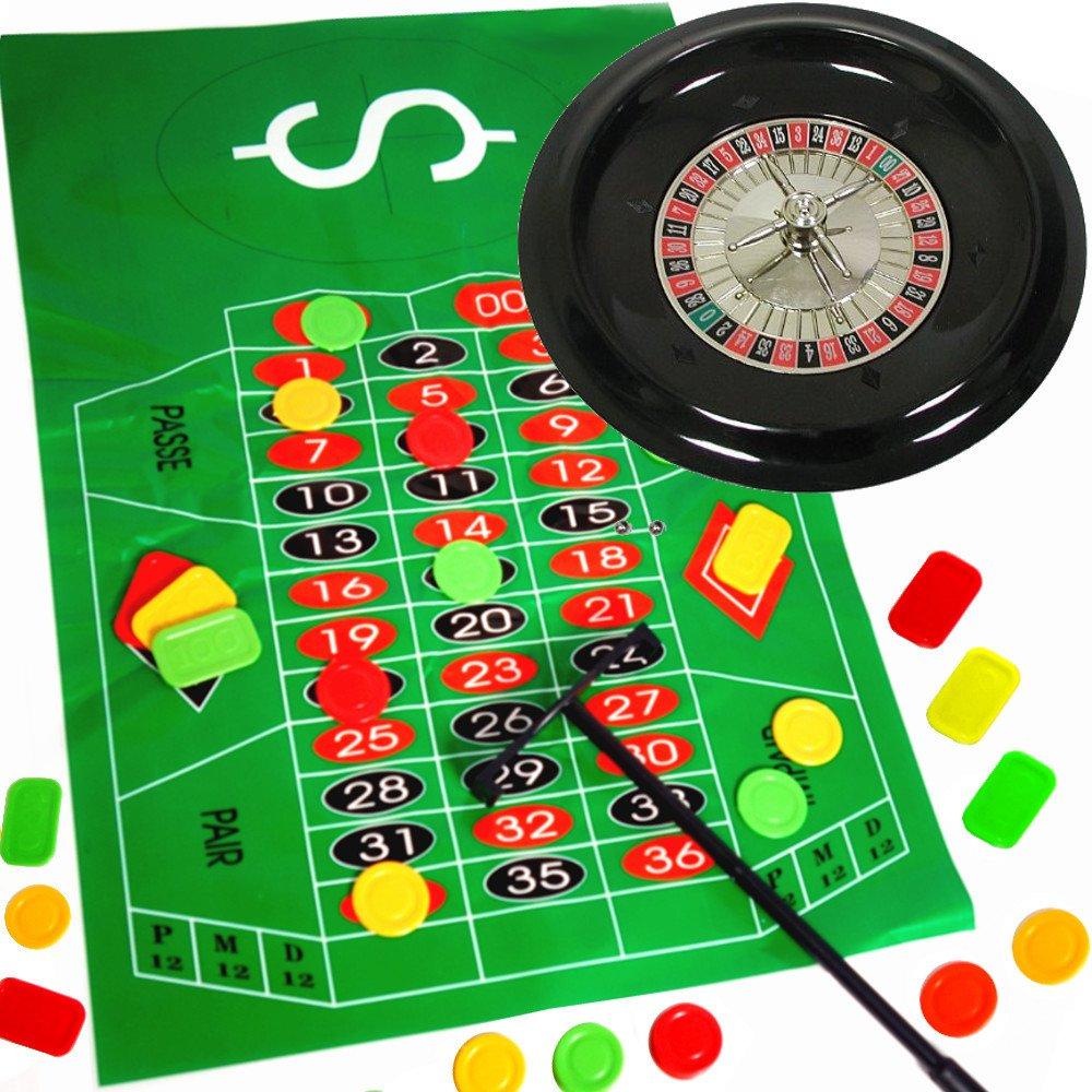 German Trendseller Roulette Spiel - NEU- ┃ Komplett - Set mit Roulettrad ┃ Casino ┃ Las Vegas ┃ Glücksspiel ┃ Party Spiel German-Trendseller ®
