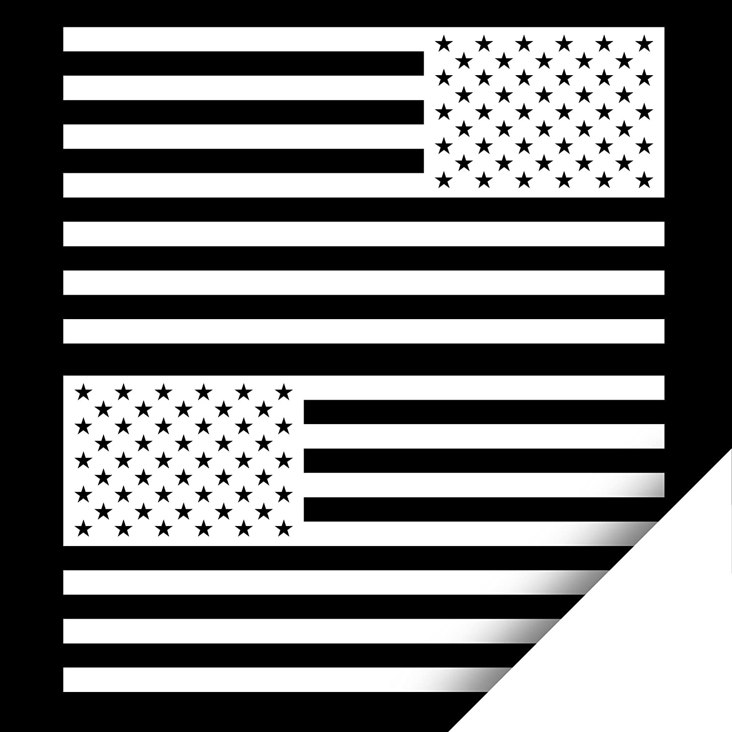 6 x 11.4 Yoonek Graphics Walls Motorcycle Black, 6 x 11.4 Laptop Mirror and More # 559 American Flag United States Decal Sticker for Car Window