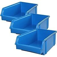 Lantelme 5606Cajas 10Unidades–Caja de almacenamiento, plástico apilable Color
