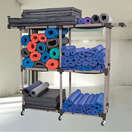 Power Systems Multi Purpose Fitness Equipment Storage Rack, 75 X 70 X 22  Inches