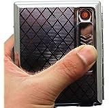 Pssopp 4 in 1 ライター タバコライター 点火用ライター 多機能 詰め替え式 防風 シガーライター付き パイプクリーナーツール ガス詰め替え式 アウトドア ギフト 風防 着火 火起こしライター タバコ (マットブラック)