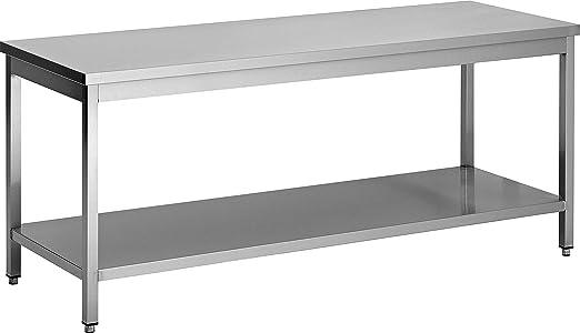 f-dcta167 mesa acero inoxidable demontable adossee, patas ...