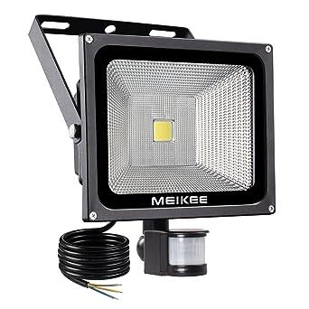 MEIKEE Projecteur LED avec détecteur de mouvement, 50W 3750 LM ...
