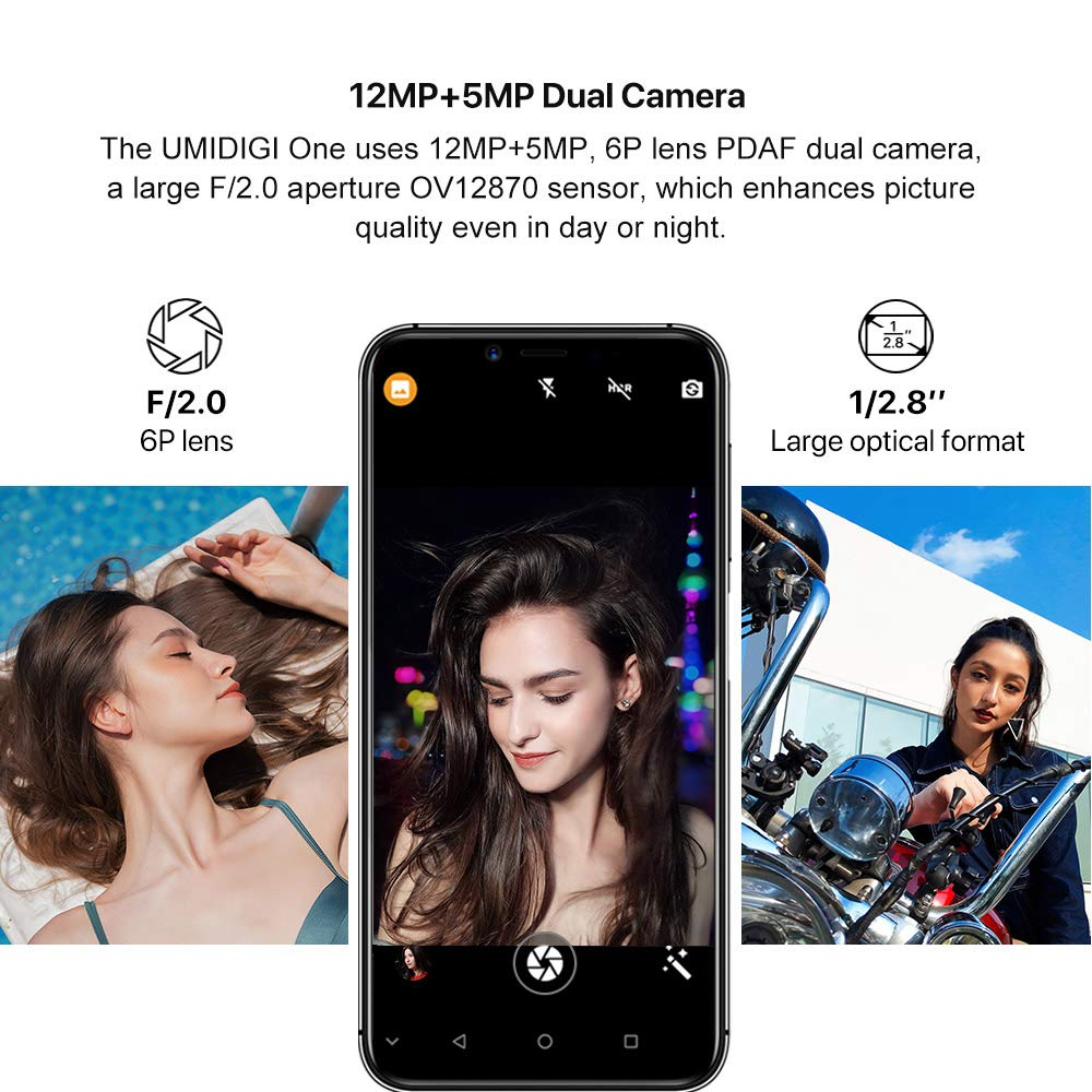 UMIDIGI One,Android 8 1 Global Version Dual 4G Smartphone