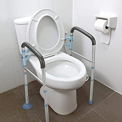 Amazon Com Oasisspace Stand Alone Toilet Safety Rail Heavy Duty Medical Toilet Safety Frame For Elderly Handicap And Disabled Adjustable Bathroom Toilet Handrails Grab Bar Fit Any Toilet Health Personal
