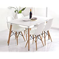 Woopi Conjunto de Mesa 120 + 4 sillas