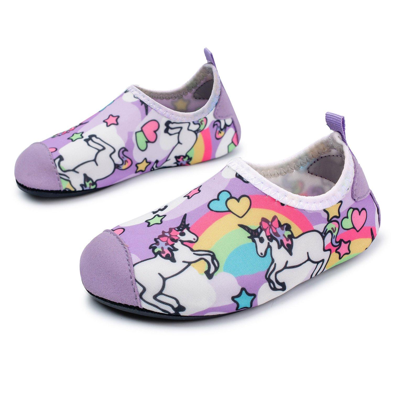 L-RUN Kids Water Shoes Summer Beach Aqua Sock for Pool Sand Yoga Surfing Horse 8-8.5=EU24-25
