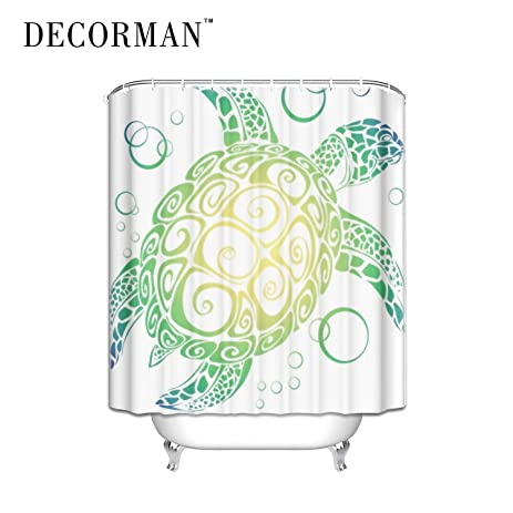 Prime Leader Sea Turtle Shower Curtain   Standard White Waterproof Shower  Curtain Surprised Gift Shower Curtain
