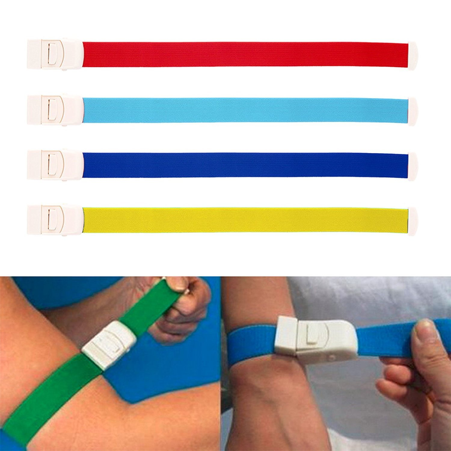GUOYIHUA 1pc(Random Color)Tourniquet Strap, for First Aid Response/Hiking and Emergency Kits/Emergencies and occluding Blood Flow