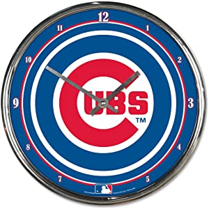 "WinCraft MLB Chrome Clock, 12"" x 12"""