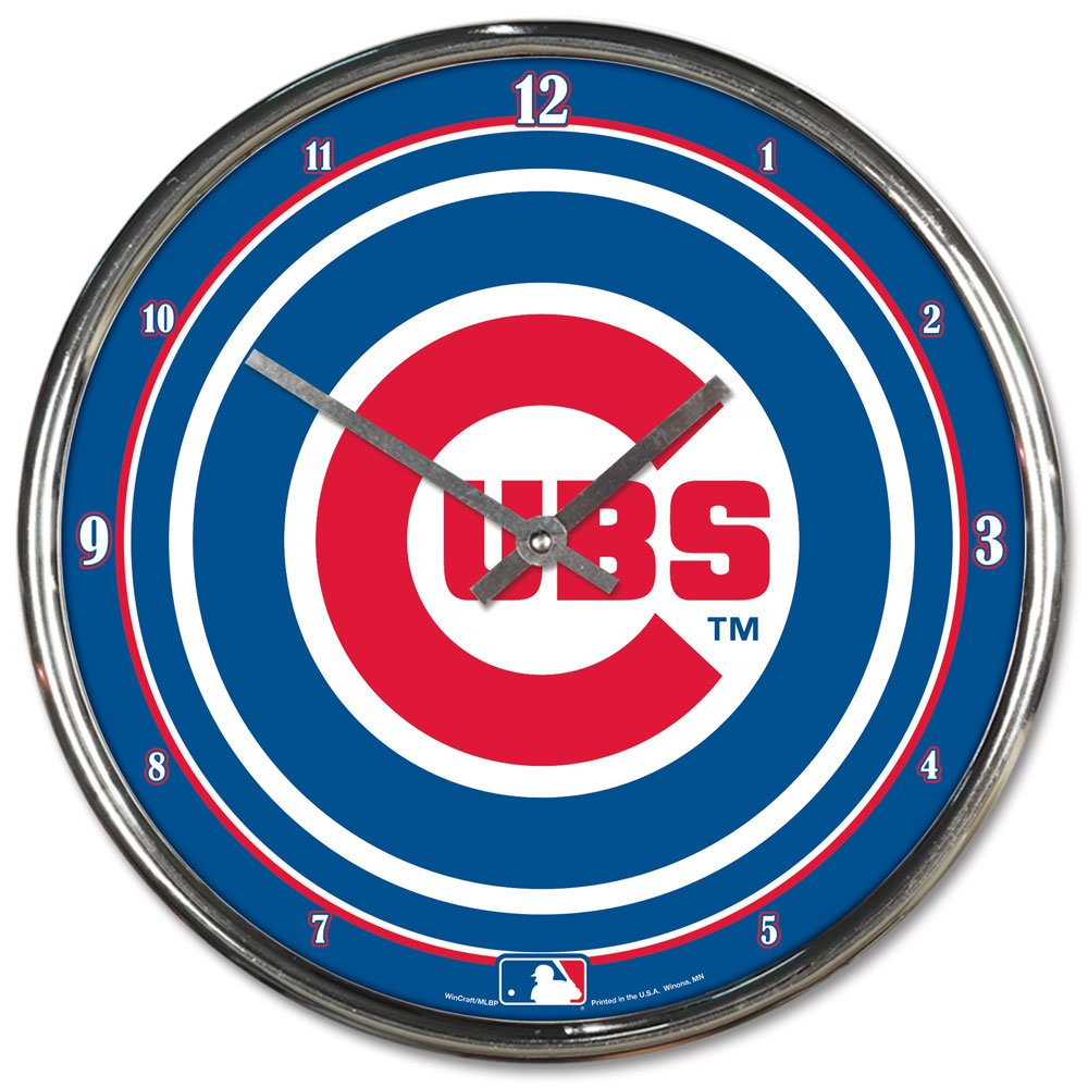MLB Chicago Cubs Chrome Clock, 12'' x 12'' by WinCraft