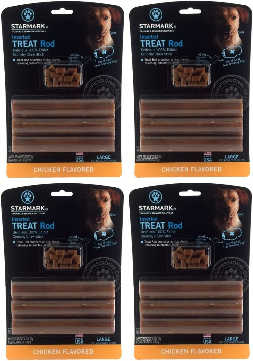 4 Pack Star Mark Dog Treat Rod Large