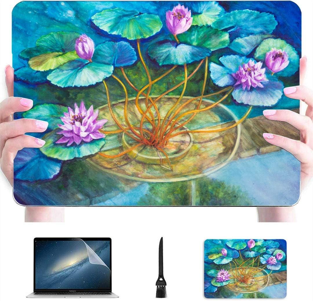 Macbook A1466 Estuche Acrílico Pintura Monets Water Lily Pond Plástico Carcasa Dura Compatible Mac A1534 Macbook Funda Accesorios de protección para Macbook con Alfombrilla de ratón: Amazon.es: Electrónica