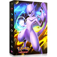 Binder for Pokemon Cards- 4 Pocket Trading Card Album Folder - 120 Card Slot, can Hold 240 Cards - Mew-Two