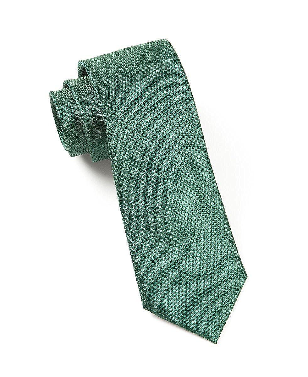 Hagora Mens Solid Grenafaux Seersucker Textured Classic Simple Woven Silk Tie