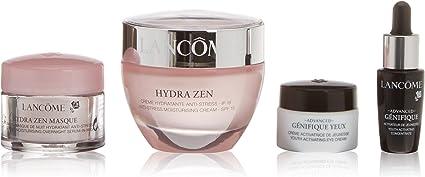 Lancôme Hydra Zen Routine Crema de Día + Concentrado Activador + Crema de Ojos Rejuvenecedora + Serum de Noche - 1 Pack: Amazon.es: Belleza