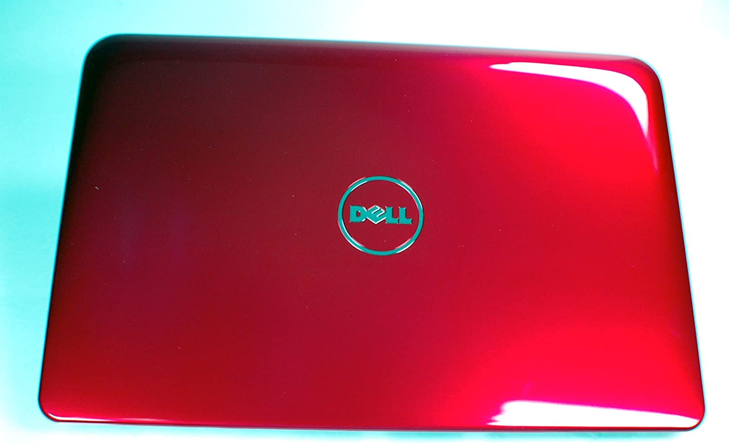 NEW Genuine OEM Dell Inspiron MINI 10 1012 Laptop 10.1 Inch Red LCD Visual Interactive Rear Back Cover Top Monitor Panel Case Lid Assembly W/Antenna 8453V Inspirion Insprion Housing Case Casing Enclosure