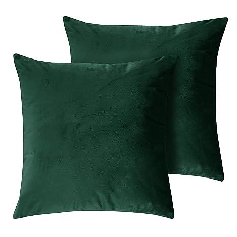 Juego de 2 Fundas de almohada decorativas sólidas para el ...