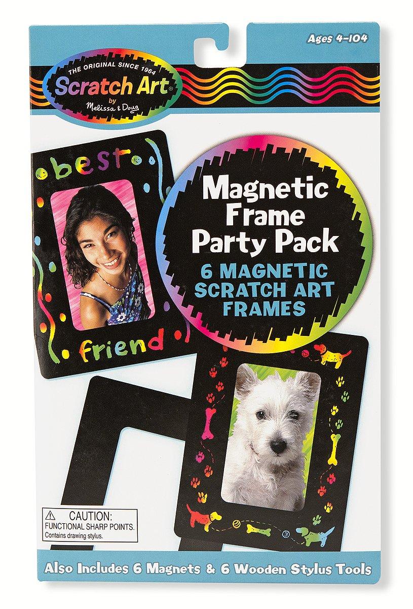Scratch Art Party Pack Free Scratch Art Mini-Pad Bundle Melissa /& Doug Magnetic Frames 59077