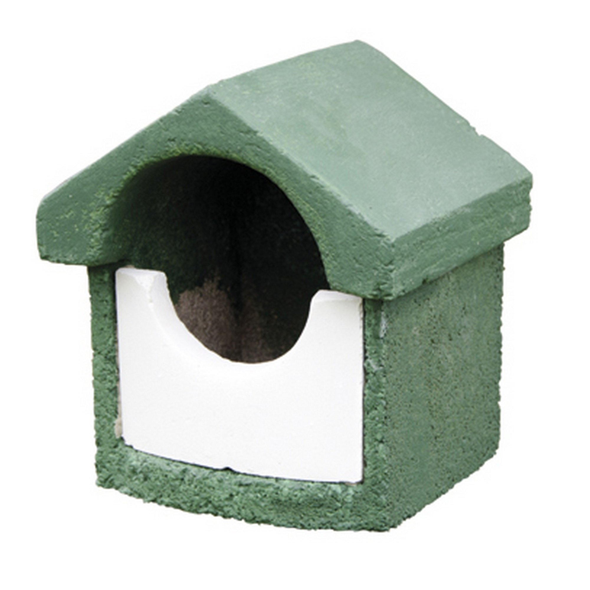 C J WoodStone Durable Open Nest Box (Small) (Green)