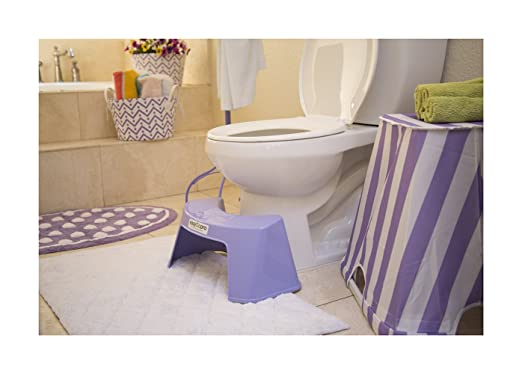 purple easygopro in a purple colored bathroom
