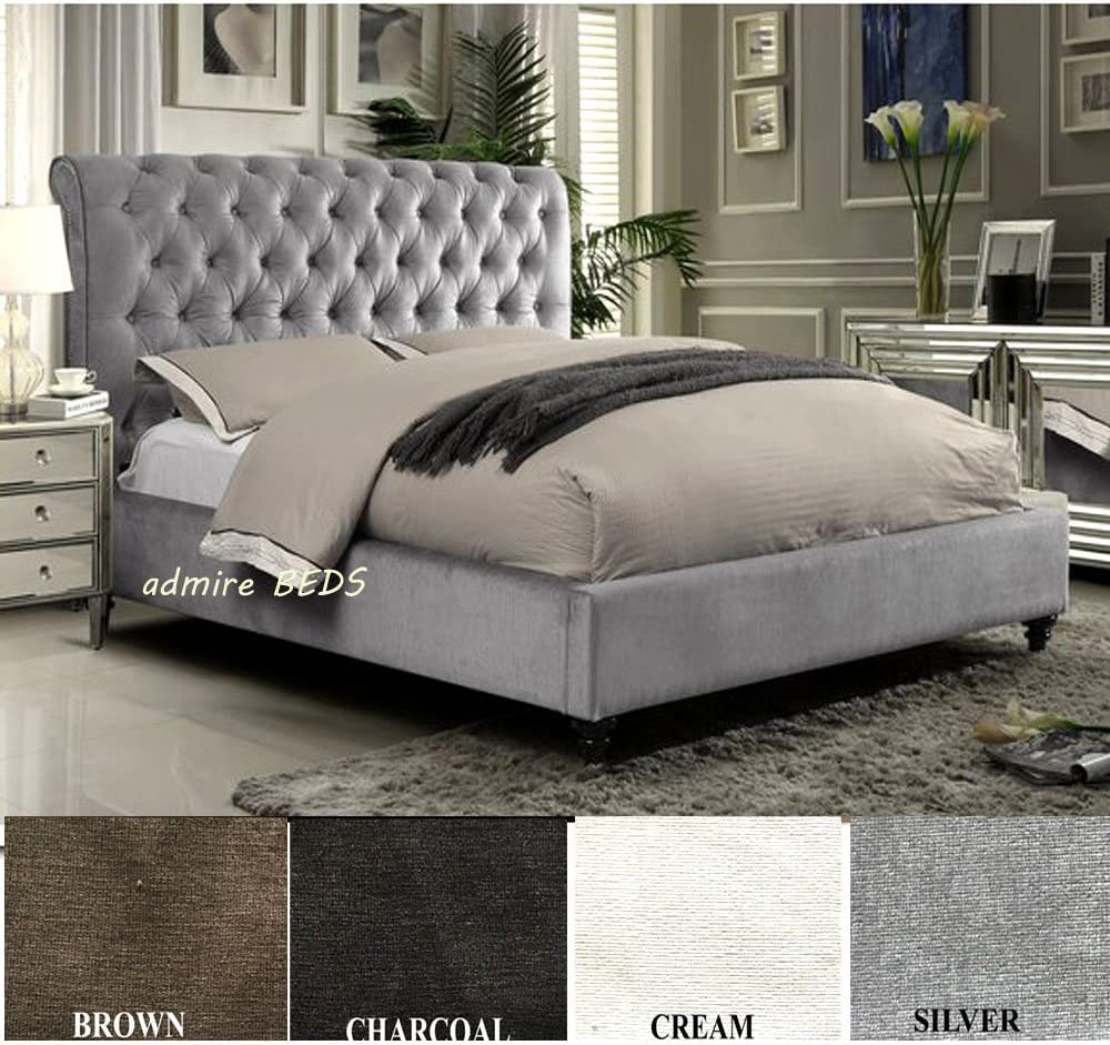 - Admire BEDS Rome New Luxury Quality Upholstered Chesterfield