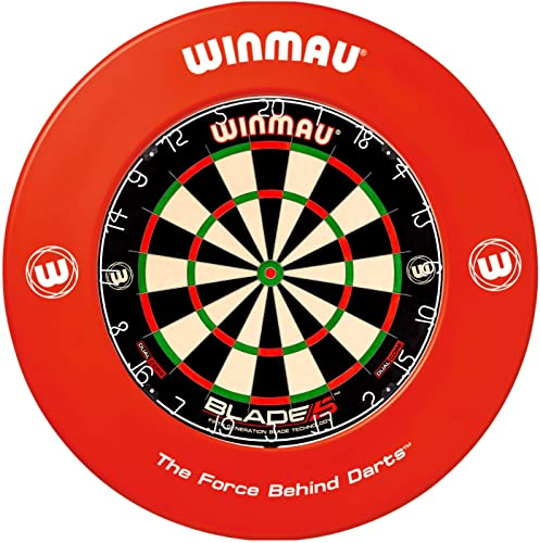 Winmau Printed Dartboard Surround, Red