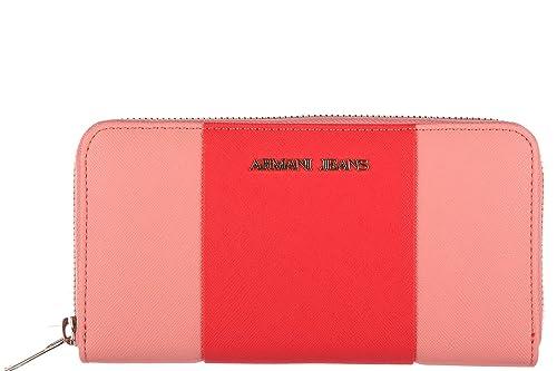 Armani Jeans monedero cartera bifold de mujer nuevo bicolor rosa: Amazon.es: Zapatos y complementos