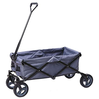 Amazon.com   ARTPUCH Folding Wagon All-Terrain Collapsible Utility Wagon  Garden Cart Heavy Duty for Gardening Shopping and Outdoor Activities . c18d5c69e