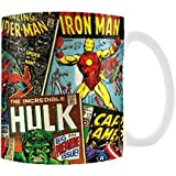 Official Marvel 'Comic Book' Design Coffee - Tea Mug - Boxed