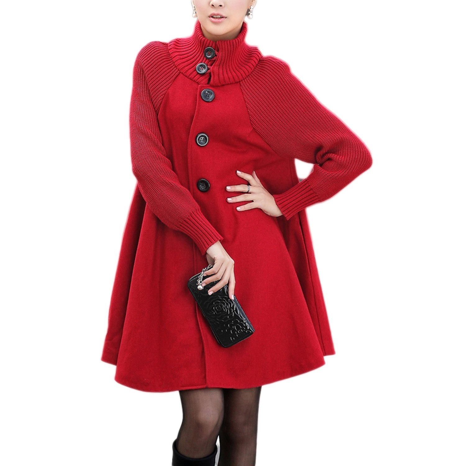 Donna Lunga Cappotto di Lana Blended Invernale Giacca