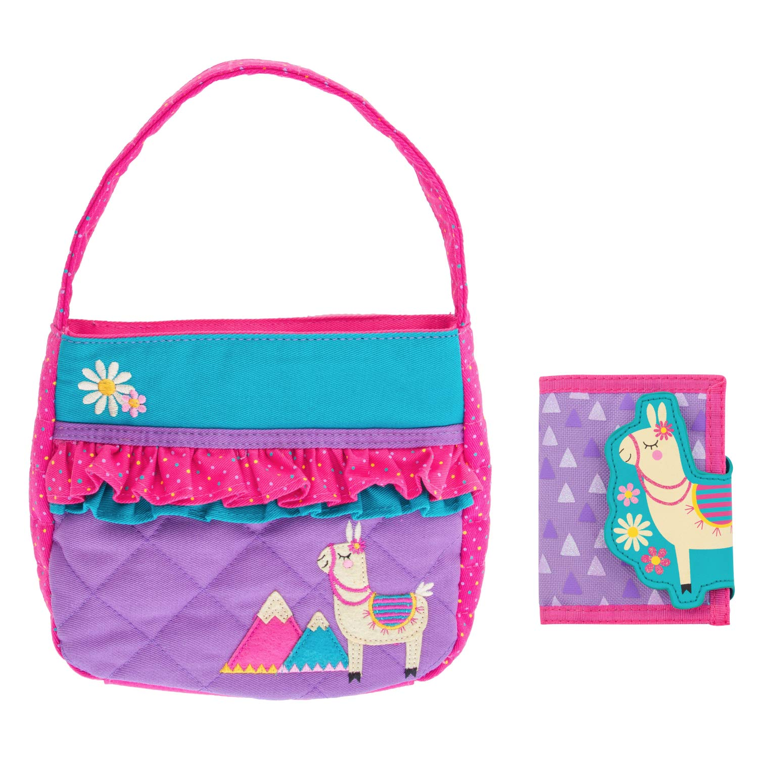 Stephen Joseph Kids Quilted Llama Purse and Wallet for Girls
