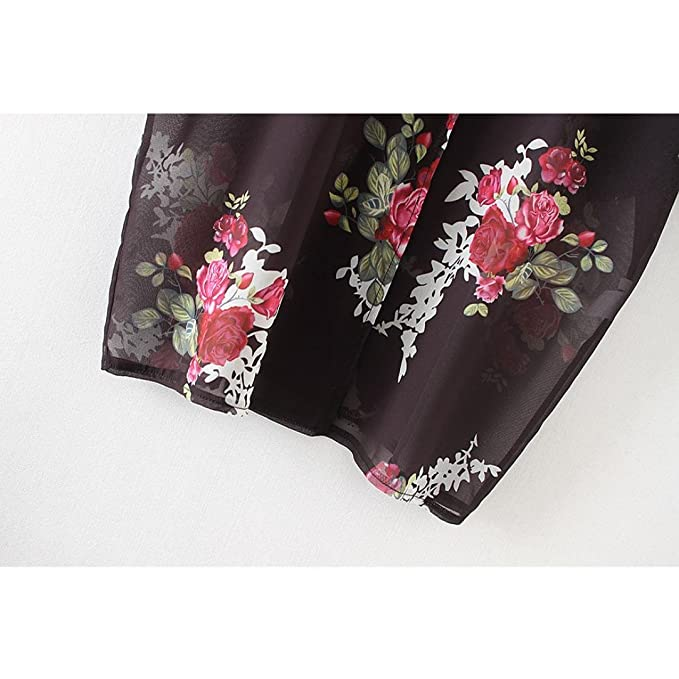 Tops,Ba Zha Hei Monos mujer tops, camisetas, blusa, shirt, mujer manga larga para playa Printed Kimono Cardigan Beach Blusa para Baño de mar de Cómodo y ...
