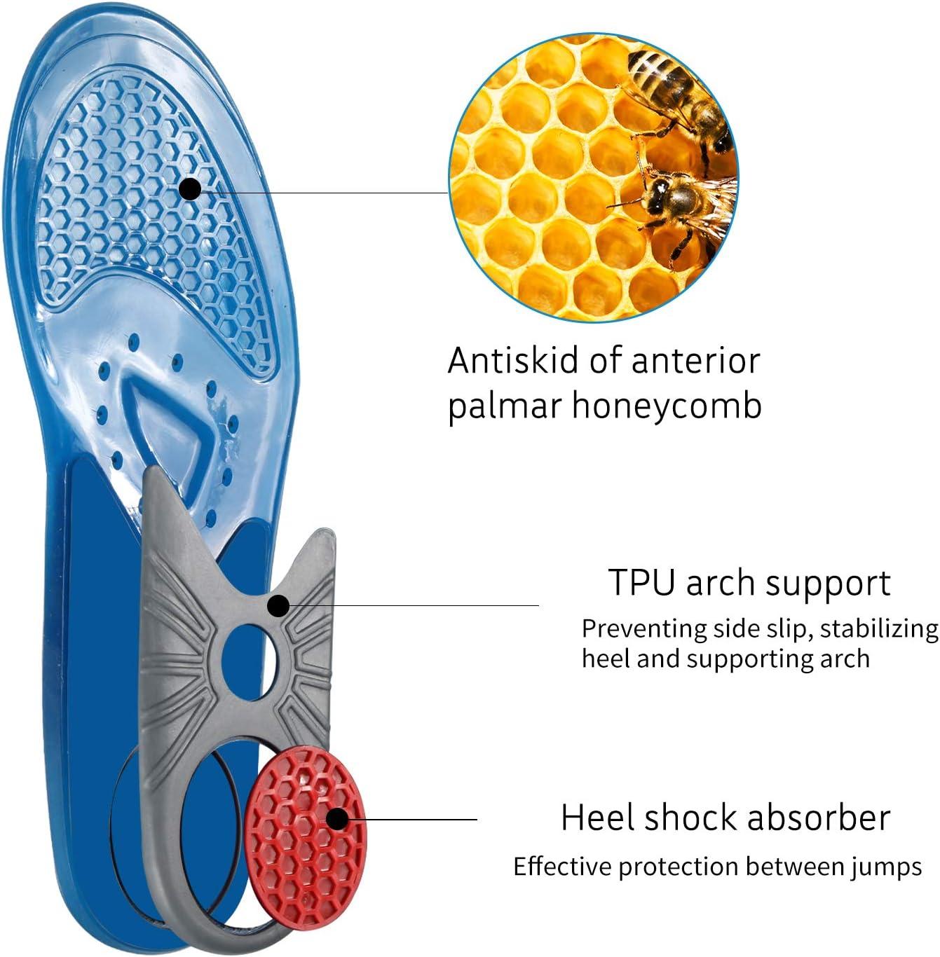 Plantillas de gel para zapatos para hombres y mujeres, soporte de ...