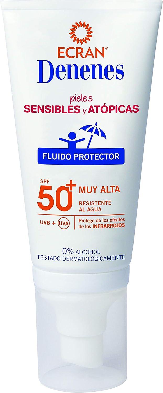 Ecran Denenes, Protector Solar Facial Infantil para Pieles Sensibles y Atópicas con SPF50+ - 50 ml