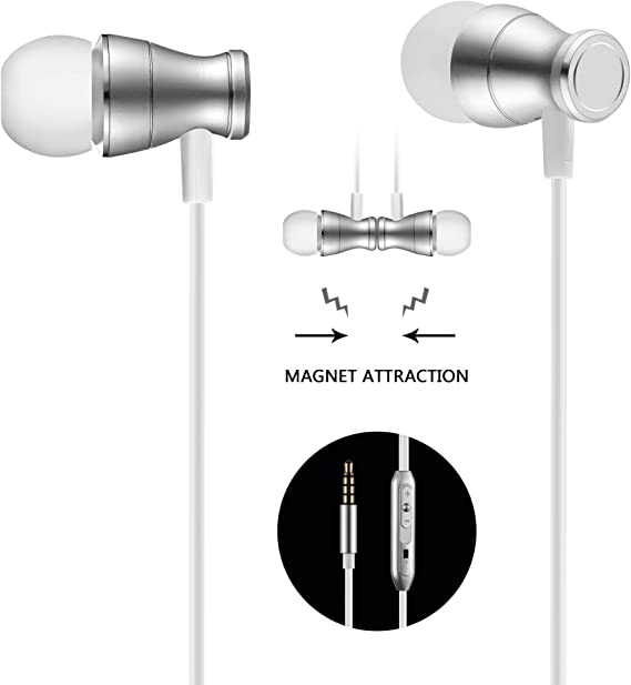 Amazon Com In Ear Earbuds Earphones Headphones Acode 3 5mm Metal Housing Magnetic Best Wired Bass Stereo Headset Built In Mic Hands Free Volume Control Carrying Case 3 Pair Earbuds