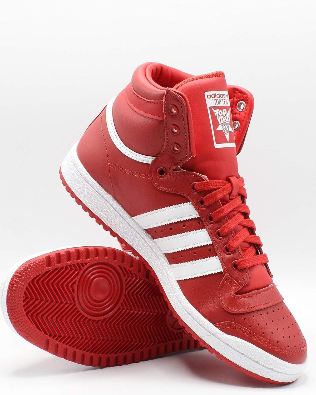 Adidas Top Ten - Zapatillas para hombre, color rojo y blanco ...