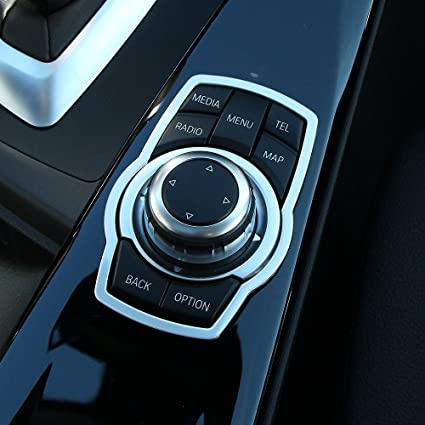 AndyGoCar Interior Multimedia Buttons Cover Molding Trim For BMW 1 3 4 5 7  Series X1