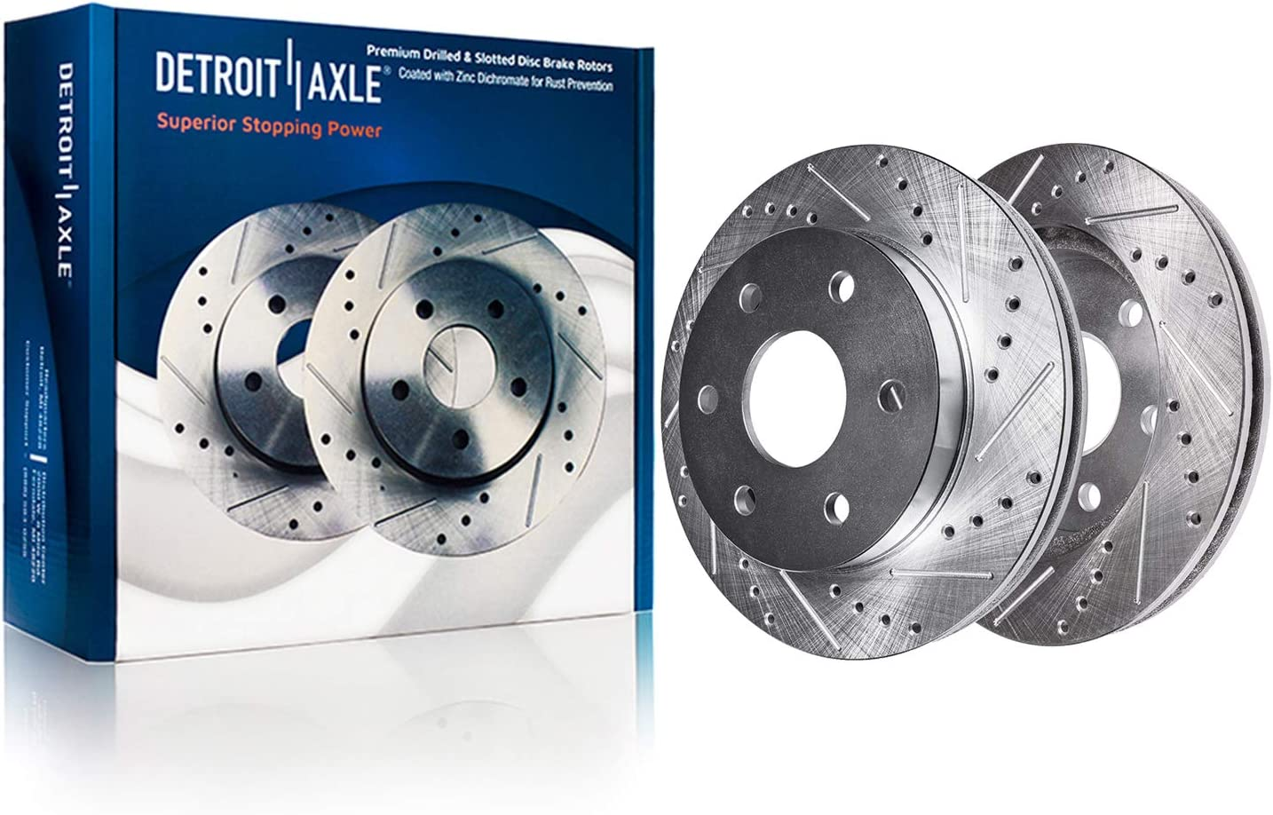 2006 Ford F-150 4WD w//6 Lugs Rotors OE Replacement Rotors w//Ceramic Pads F