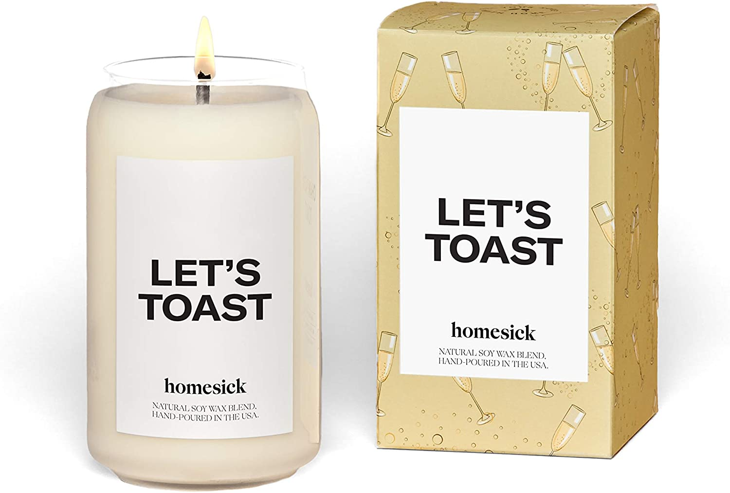 Homesick Scented Candle, Let's Toast, 13.75 oz