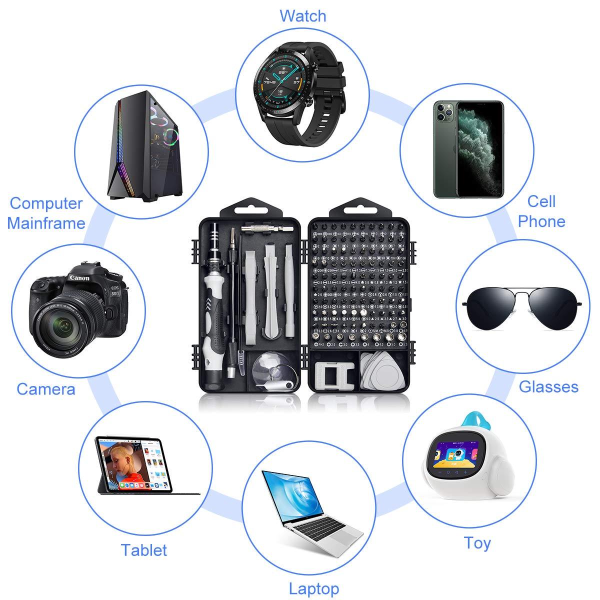 Tablet Kamera Infreecs 117 in 1 Reparatur Set Feinmechaniker Set Torx Bit Pr/äzisionsschraubendreher Set f/ür Smartphone Elektronik Set Konsolen Schraubendreher Set Feinmechanik Uhren PC