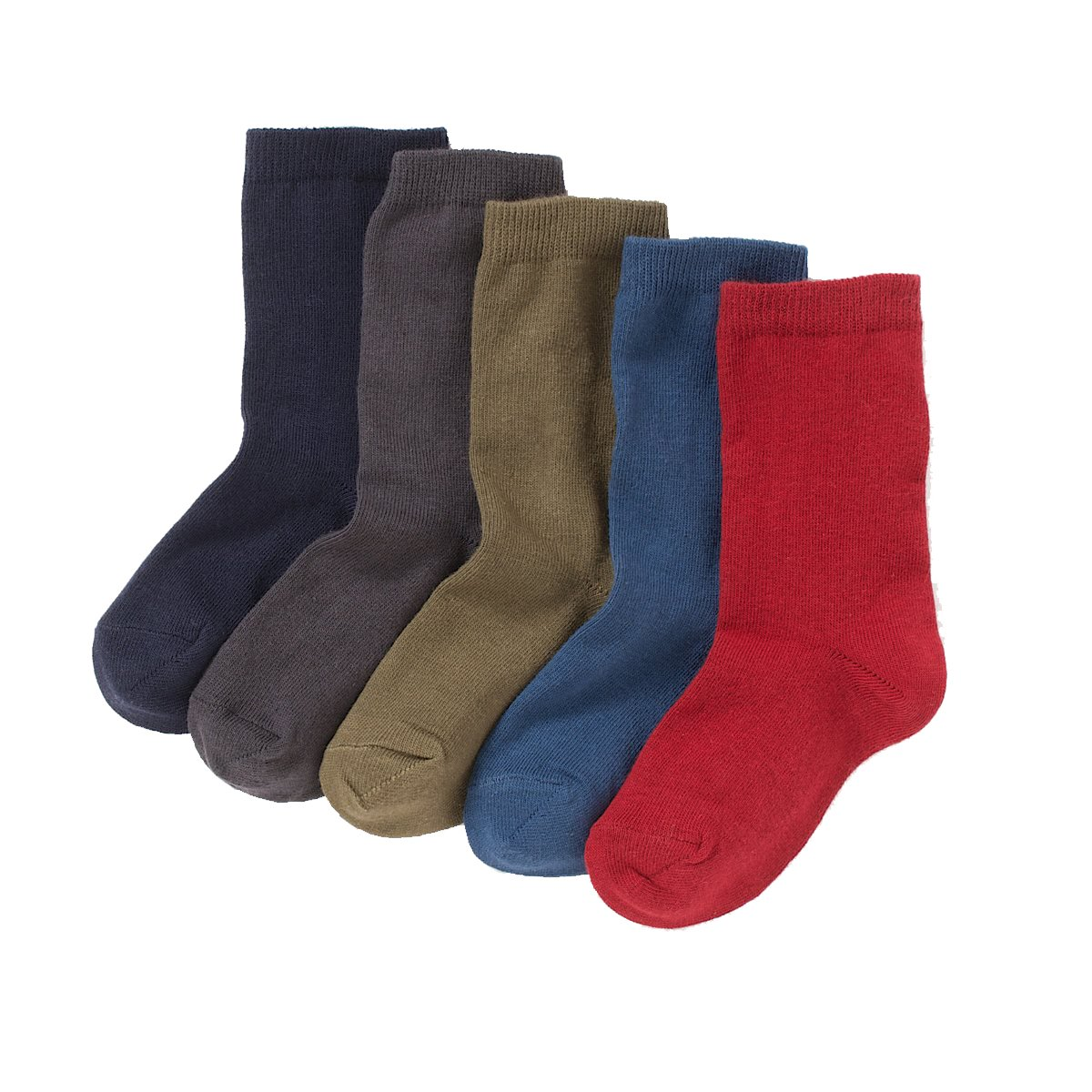 La Redoute Collections Big Boys Pack Of 5 Pairs Of Plain Ankle Socks Blue Size 19/22 (3 To 5.5)