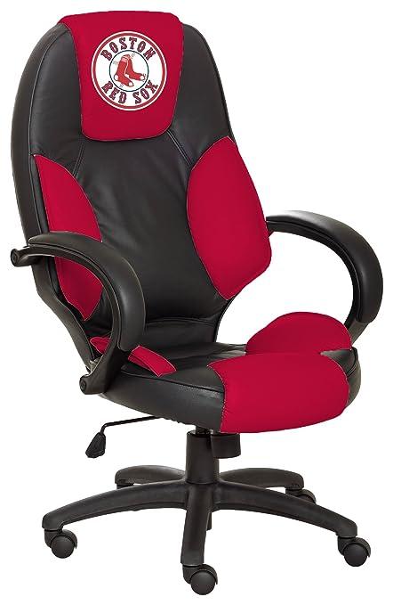 Wondrous Amazon Com Mlb Boston Red Sox Leather Office Chair Sports Machost Co Dining Chair Design Ideas Machostcouk