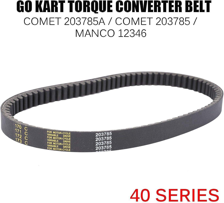 40 SERIES GO KART TORQUE CONVERTER DRIVEN CLUTCH 3//4/'/' ID COMET 40D MANCO.