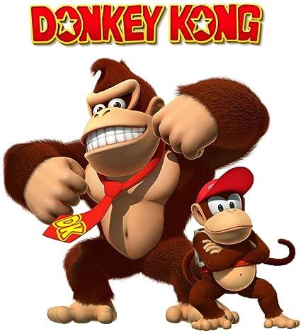 Amazon com : Donkey Kong Country - Iron On Heat Transfer 8