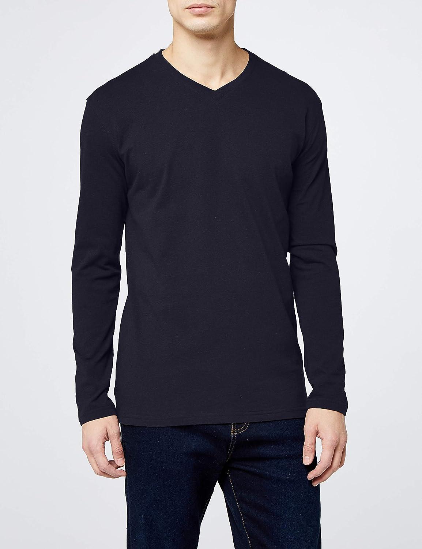 Lower East Camiseta de manga larga con cuello de pico pack de 5