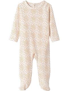 72c0e957558ae VERTBAUDET Lot de 3 pyjamas bébé en pur coton imprimé à dos pressionné Gris  pâle NAISSANCE