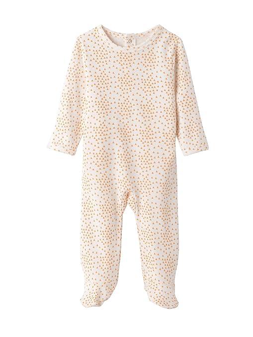 e6c9696868dca VERTBAUDET Lot de 3 pyjamas bébé en pur coton imprimé à dos pressionné Gris  pâle NAISSANCE
