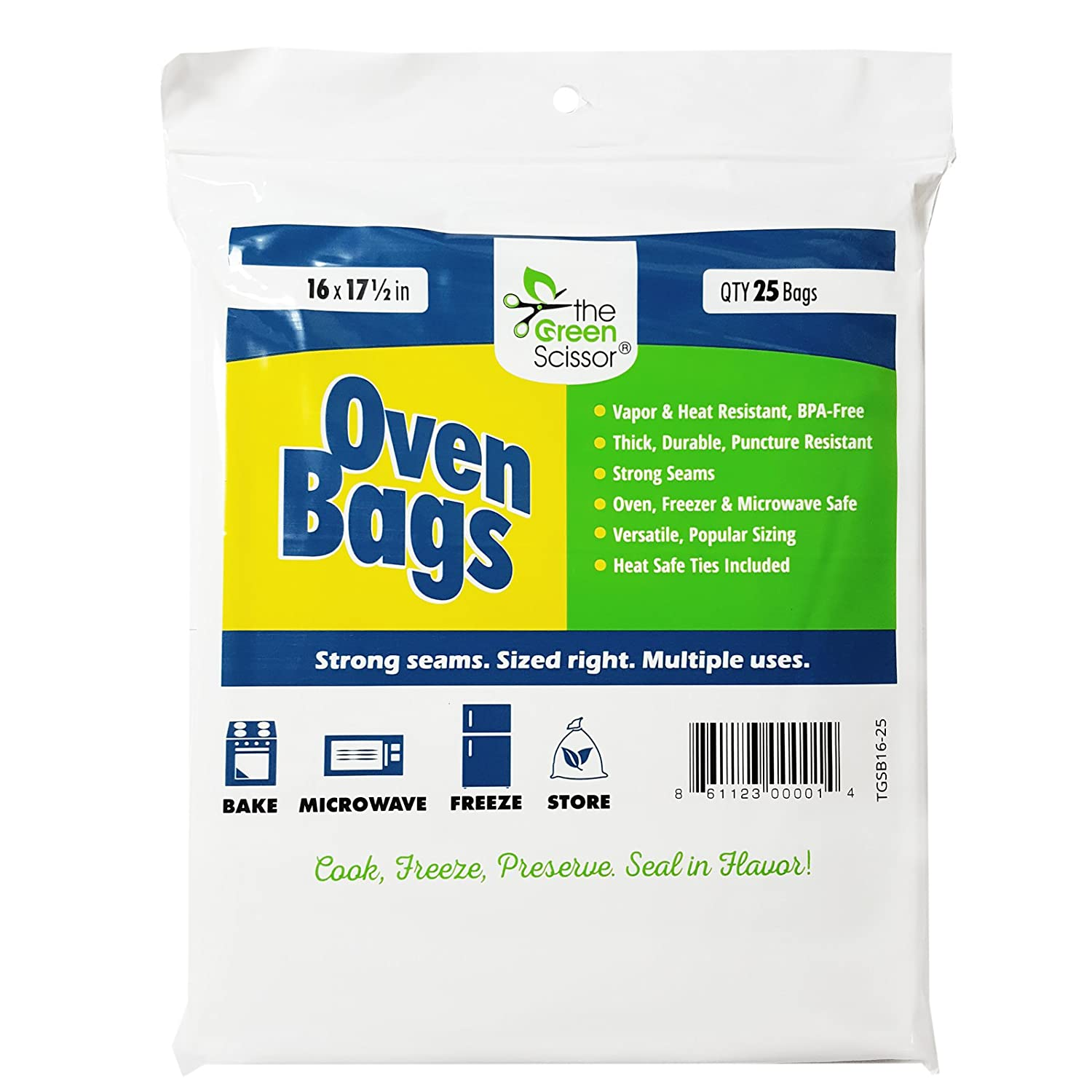The Green Scissor Oven Bags - 25 Pack