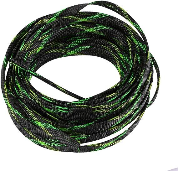 Pet Tubo de Alambre Negro Funda Trenzada para Cable de 100 pies Organizador de Cables para Envoltura y protecci/ón 1//2 Pulgadas